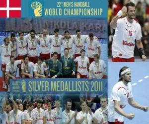 Układanka Srebrny Medal Danii w 2011 World Handball