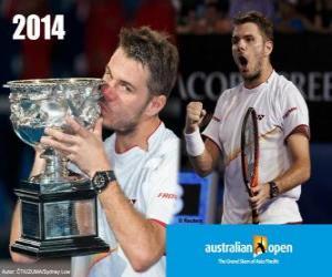 Układanka Stanislas Wawrinka mistrz Otwórz Australia 2014