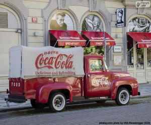 Układanka Stara ciężarówka Coca-Cola
