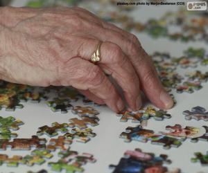Układanka Starsza osoba, puzzle