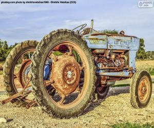 Układanka Stary ciągnik