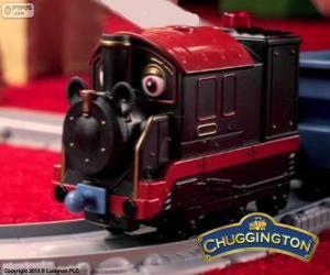 Układanka Stary Pete, parowej lokomotywy jest najstarszym chugger w Stacyjkowo