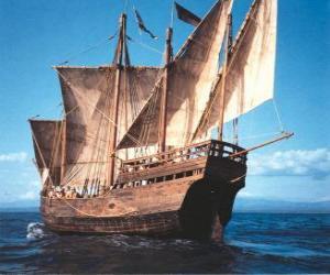 Układanka Statek piracki duże