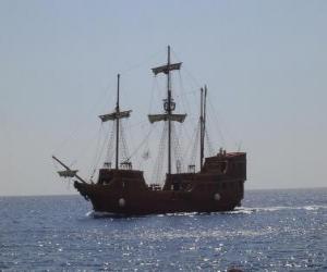 Układanka Statek piracki