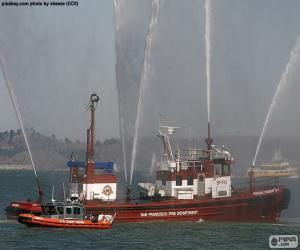 Układanka Statek pożarniczy
