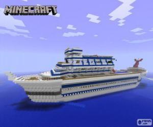 Układanka Statek wycieczkowy Minecraft
