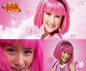 Układanka Stephanie, bohater dziewczyna z Lazy Town, która kocha kolor różowy