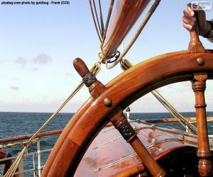Układanka Steru łódź