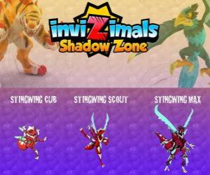 Układanka Stingwing Cub, Stingwing Scout, Stingwing Max. Invizimals Następny wymiar. Pierwszy Invizimala schwytany przez Kenichi, owada atrakcyjne i niebezpieczne