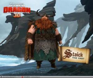 Układanka Stoick tradycyjne Viking szef