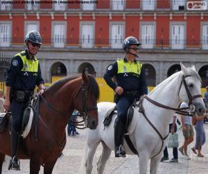 Układanka Straż miejska na koniu, Madryt