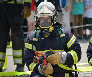 Układanka Strażak szkolenia