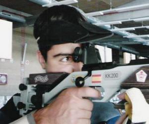 Układanka Strzelectwo sportowe - shooter broń w akcji