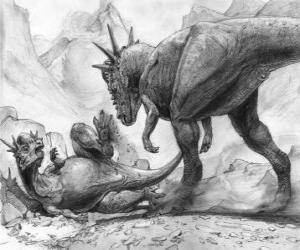 Układanka Stygimoloch, miał krótkie przednie kończyny i długie tylne i przede wszystkim długi ogon do równowagi.