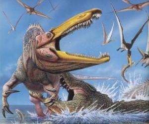 Układanka Suchomim zaatakowana przez krokodyla