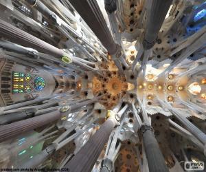 Układanka Sufit, Sagrada Familia, Barcelona