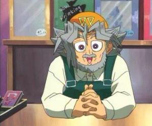 Układanka Sugoroku Muto lub Solomon Muto jest dziadek Yugi i Właściciel sklepu gry planszowe