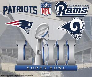 Układanka Super Bowl 2019 r.