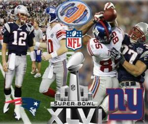 Układanka Super Bowl XLVI - New England Patriots vs New York Giants