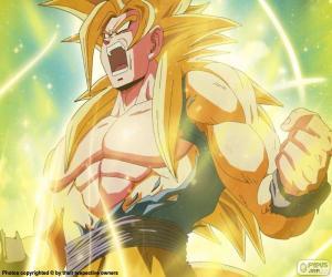 Układanka Super Saiyan Dragon Ball