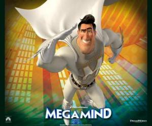 Układanka Superbohatera Metroman jest rywalem superzłoczyńcą Megamocny