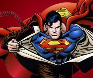 Układanka Superman rysunek