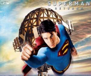 Układanka Superman, superbohater pływające