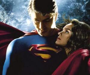 Układanka Superman z Lois Lane, reporterka i jego prawdziwej i wielkiej miłości
