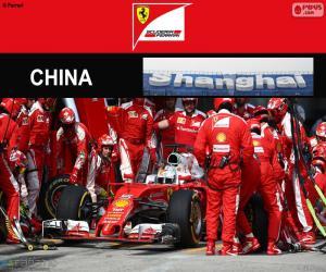 Układanka S.Vettel Grand Prix Chin 2016