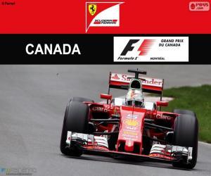 Układanka S.Vettel Grand Prix Kanady 2016