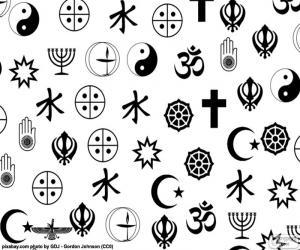 Układanka Symbole religii