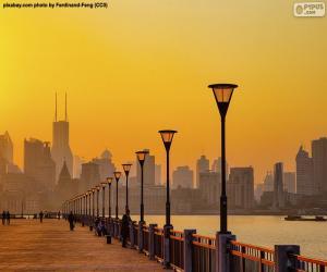 Układanka Szanghaj z rzeki Huangpu
