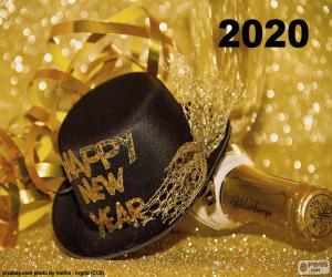 Układanka Szczęśliwego nowego roku 2020