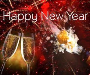 Układanka Szczęśliwego Nowego Roku