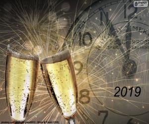 Układanka Szczęśliwy rok 2019