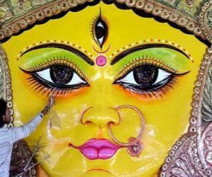 Układanka Szef bogini Durga, jeden z aspektów Parvati