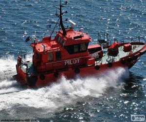 Układanka Szwedzki pilot łódź