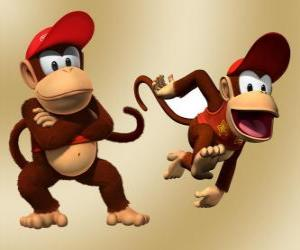 Układanka Szympans Diddy Kong, postać w grze wideo Donkey Kong