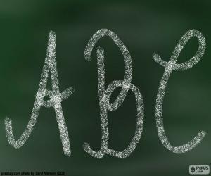 Układanka Tablica, ABC