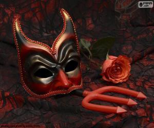 Układanka Tajemnicza maska karnawałowa