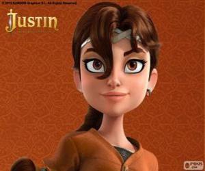 Układanka Talia jest towarzysz przygód Justin