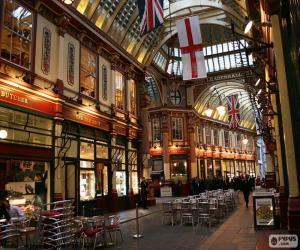 Układanka Targowisku Leadenhall Market, Londyn