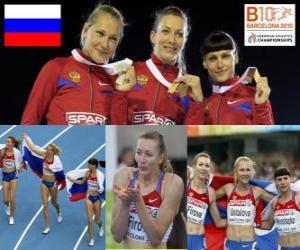 Układanka Tatiana Firowa mistrzem na 400 m, Xenia Krivoshapka Ustalova i Antonina (2 i 3) w Barcelonie Mistrzostwa Europy w Lekkoatletyce 2010