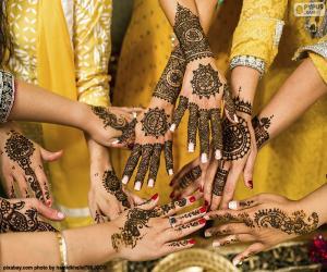 Układanka Tatuaże z henny