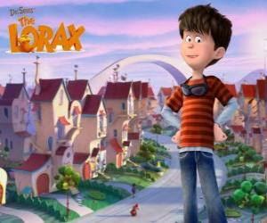 Układanka Ted Wiggins, mogło boy 12 lat, jeden z głównych bohaterów filmu Lorax