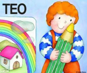 Układanka Teo i kolory