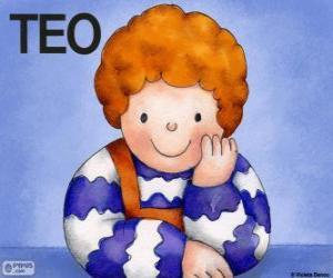 Układanka Teo, postać, która żyje w książkach dzieci w Violeta Denou