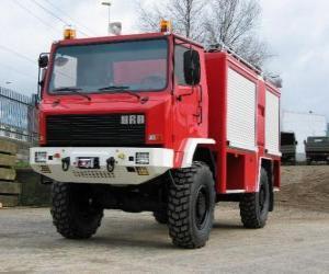 Układanka terenowy samochód pożarniczy