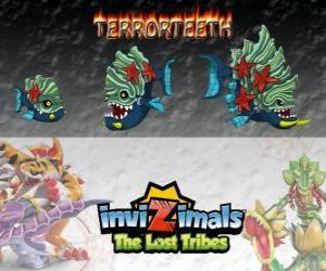 Układanka Terrorteeth, najnowszej ewolucji. Invizimals Zaginione Plemiona. Invizimal wodnego, który eats bardzo szybkie i że bites wszystko