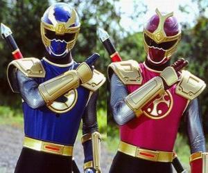 Układanka Thunder Ranger są duo Crimson i Granatowy
